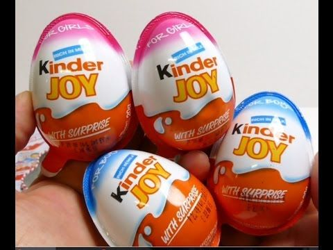 3 Kinder surprise eggs Unboxing - YouTube