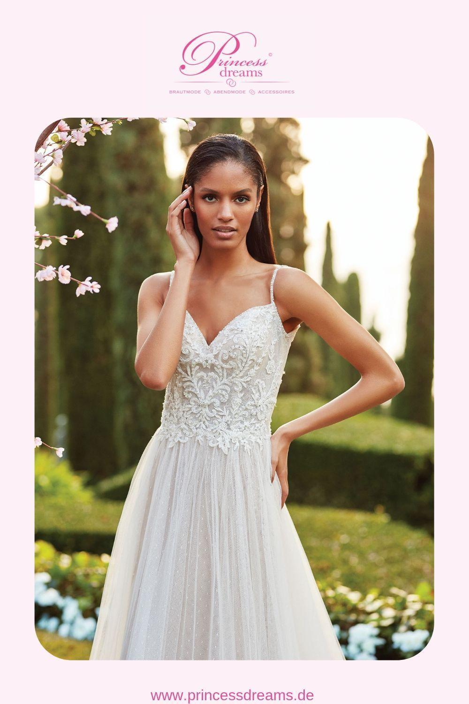 Brautkleid A-Linie mit Trägern und Glitzer  Das Brautkleid von