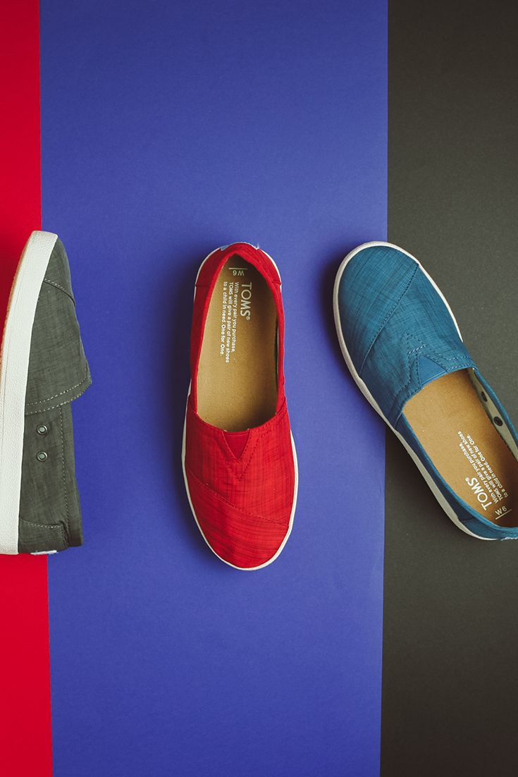 400bbfd014a Red, charcoal or blue, there's a pair of comfortable TOMS Avalon slip-on  shoes for you!
