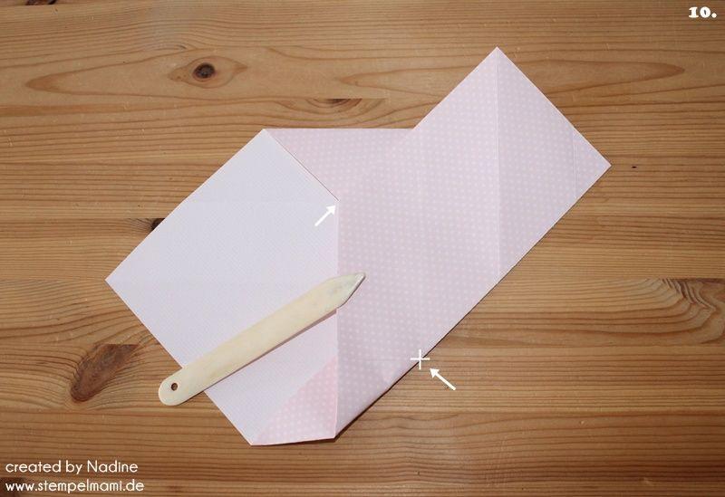 Anleitung Tutorial Origami Tasche Stampin Up Box Goodie Swap 014
