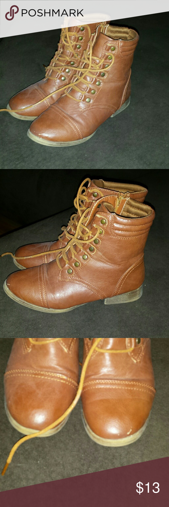 Boots Super cute booties that go past the ankle!  Minor wear.  Needs a good new home!! Rue 21 Shoes Combat & Moto Boots