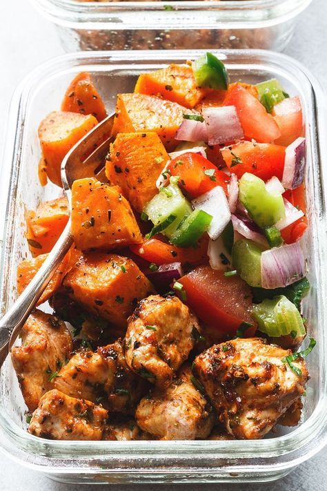 Meal Prep – Roasted Chicken and Sweet Potato #healthyeating