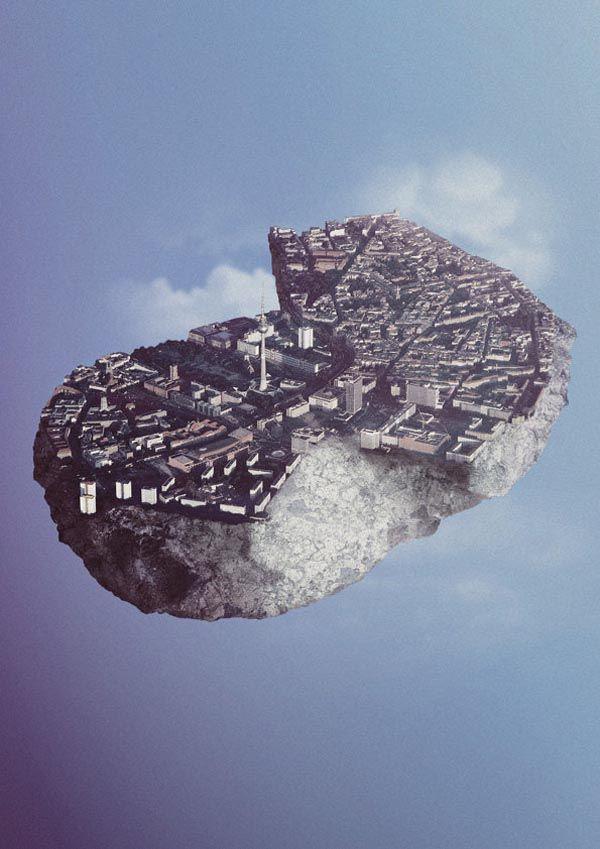 Floating Island Berlin - Photo Manipulation by Reinhard Krug