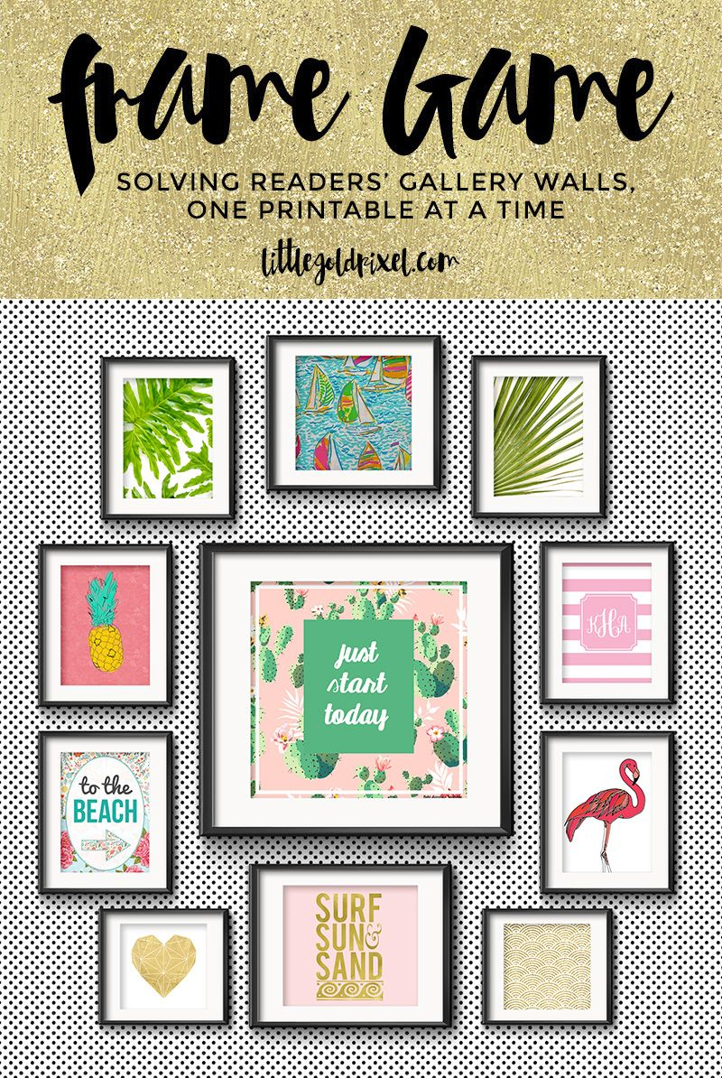 This is an image of Gorgeous Gallery Wall Printables