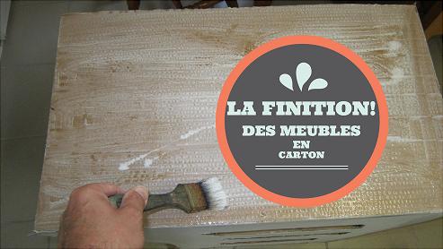 La Finition Des Meubles En Carton Cartonrecup Meubles En Carton Meuble En Carton Carton