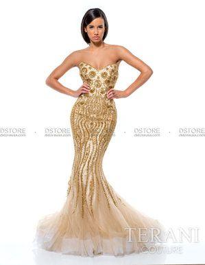 0283f4f72 Vestido de festa longo sereia tomara que caia Terani 151GL0343A : Dstore,  As Melhores Grifes dos EUA - Site Oficial