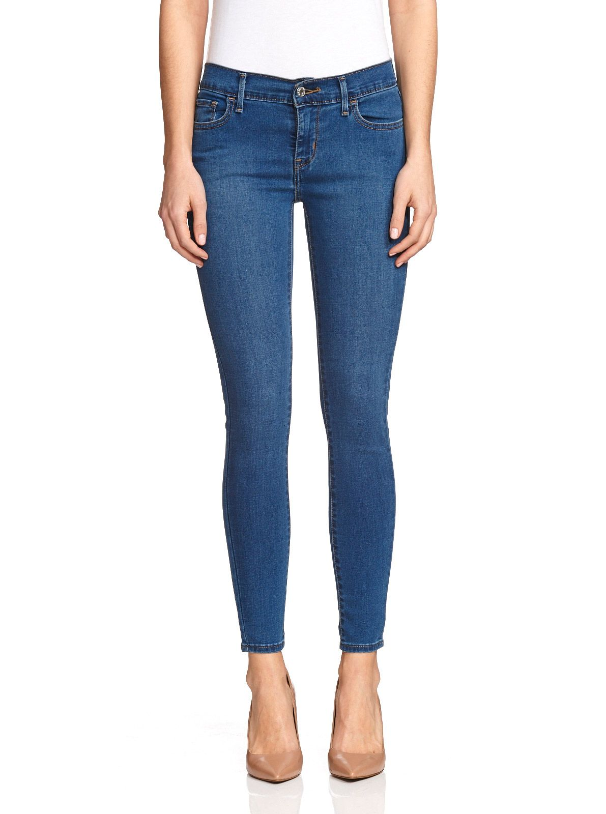 Levi's empire cropped skinny jeans