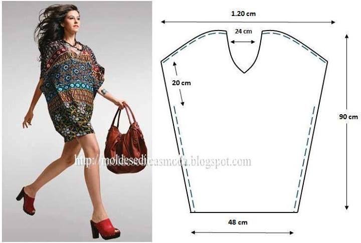 blusa facil | Blusas | Pinterest | Blusas, Costura y Molde