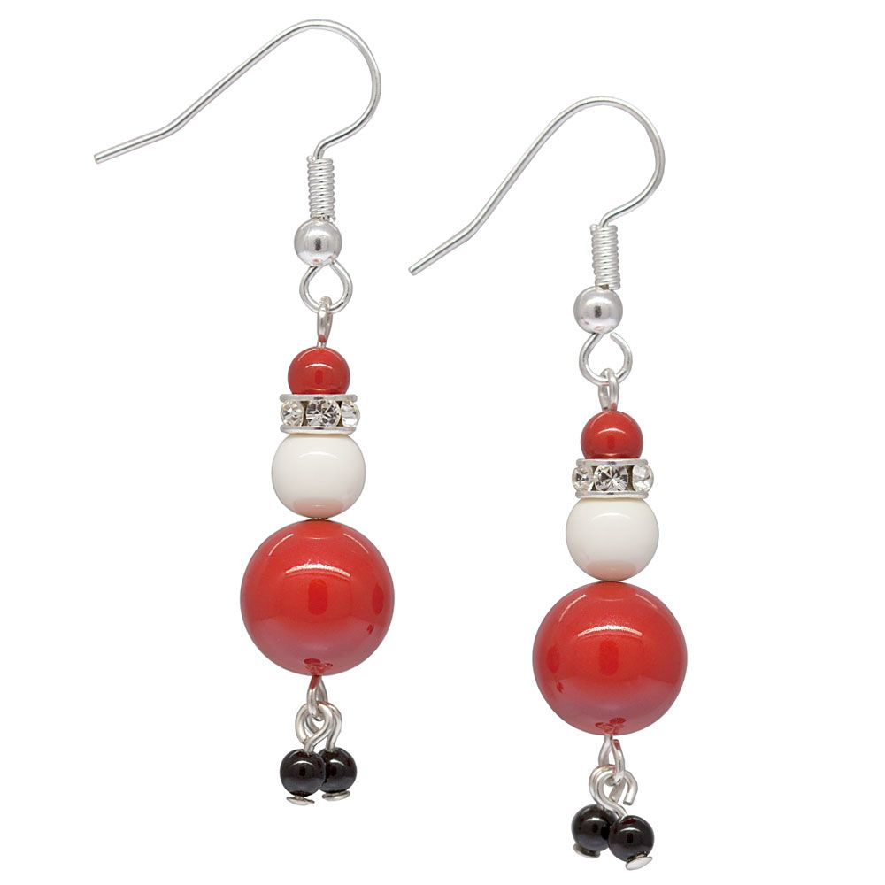 Charming Santa Earrings | Fusion Beads Inspiration Gallery these would make cute little suncatchers for indoor plants at Christmastime.