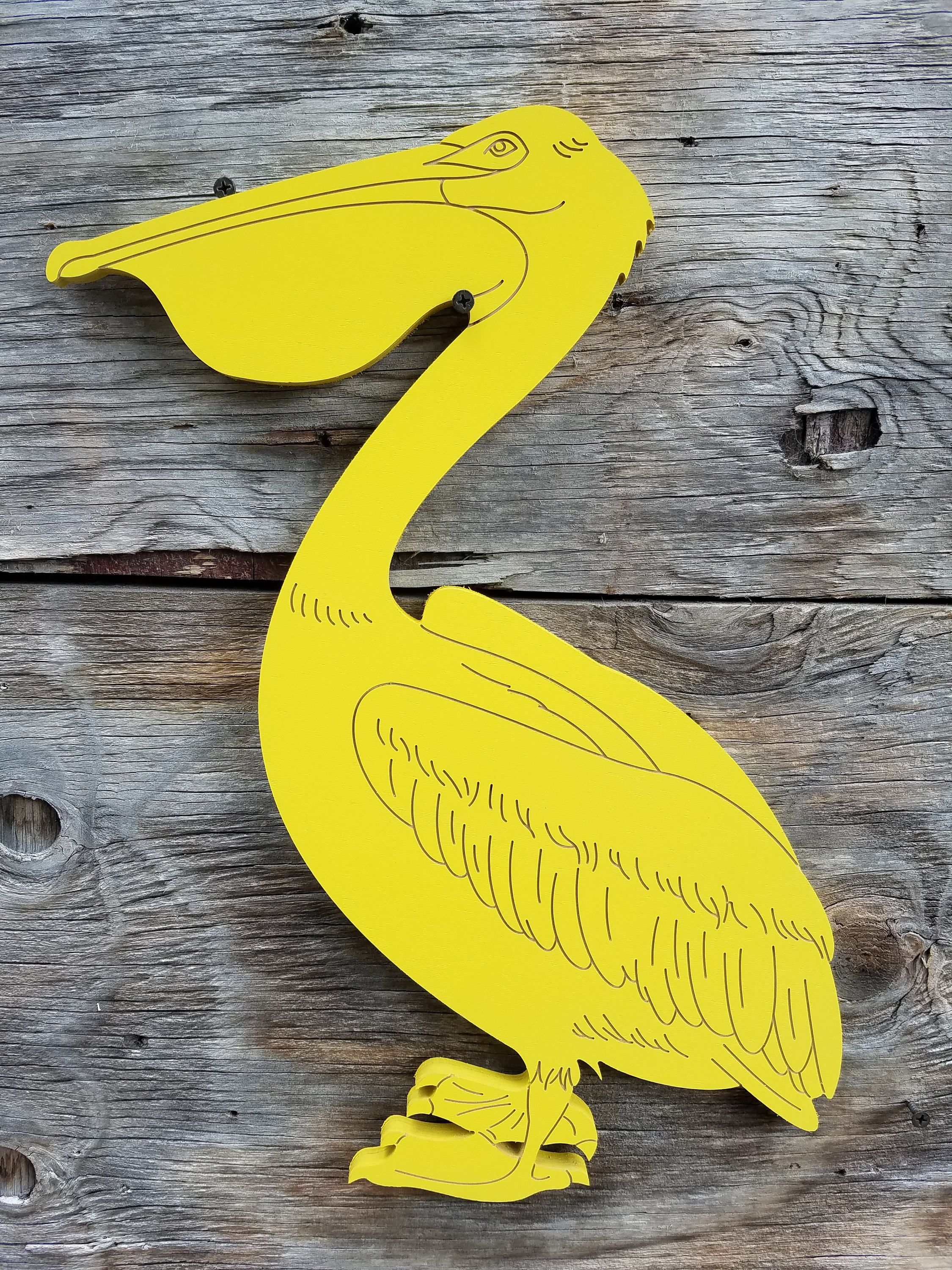 Pelican Wall Hanging Sign Beach Decor Wall Decor Stained or Painted ...