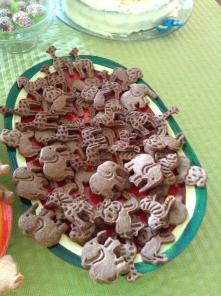 Bolachinhas de animais em chocolate