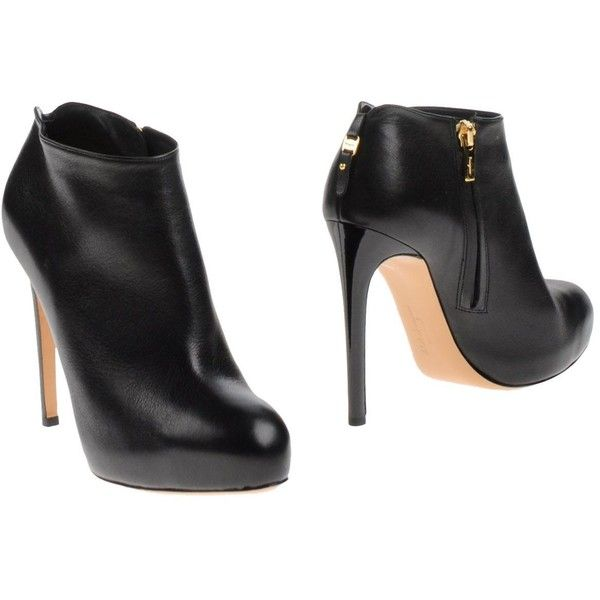 Salvatore Ferragamo Shoe Boots (760 CAD) ❤ liked on Polyvore featuring shoes, boots, ankle booties, black, black zip boots, heels stilettos, round toe boots, black zipper boots and zipper booties
