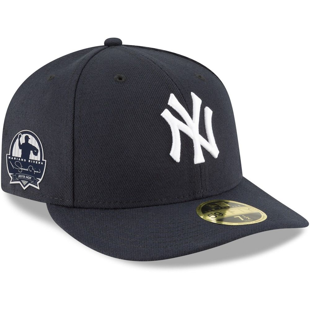 Men S New Era Mariano Rivera Navy New York Yankees 2019 Hall Of Fame Side Patch 59fifty Fitted Hat Yankees News New Era
