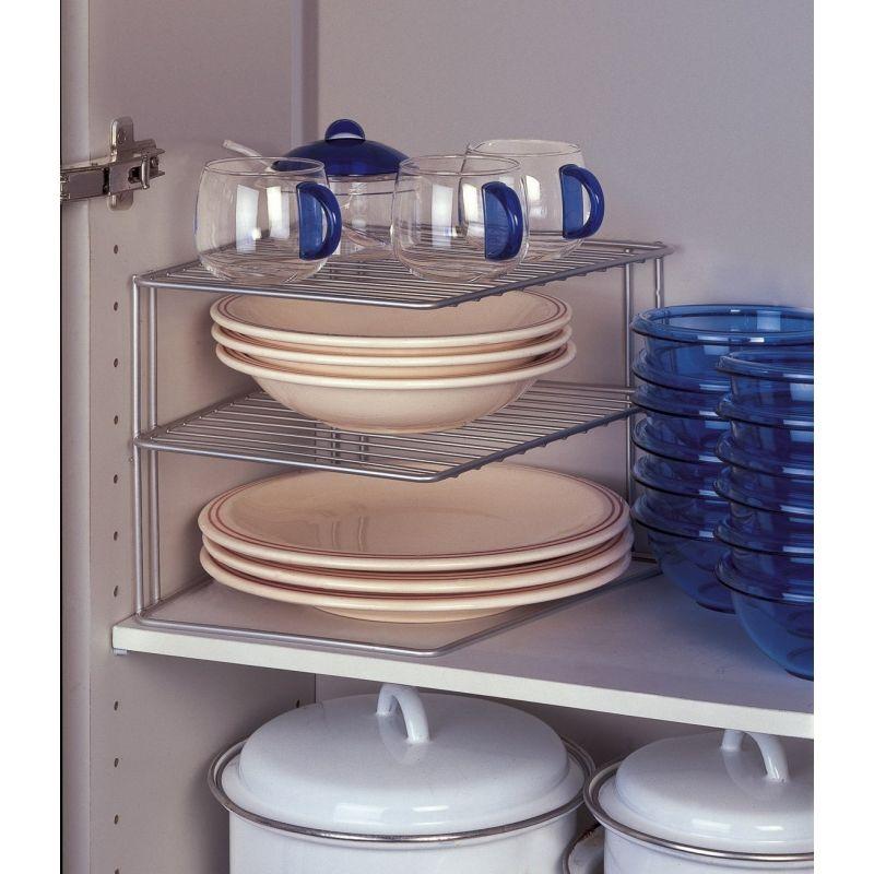 Etagère d\'angle de placard - Metaltex - Rangement cuisine ...