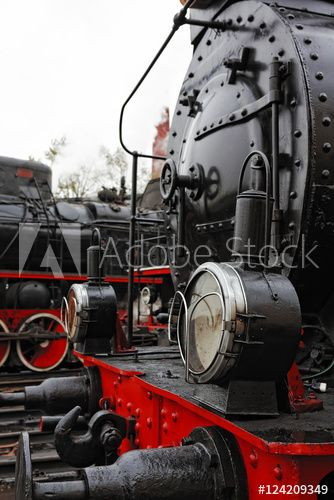 Detail of an old steam locomotive.