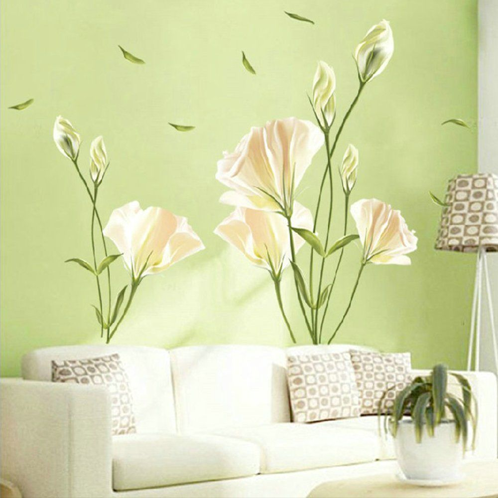 Kaimao Beautiful Lily Flower Wall Stickers Art Decal Murals ...