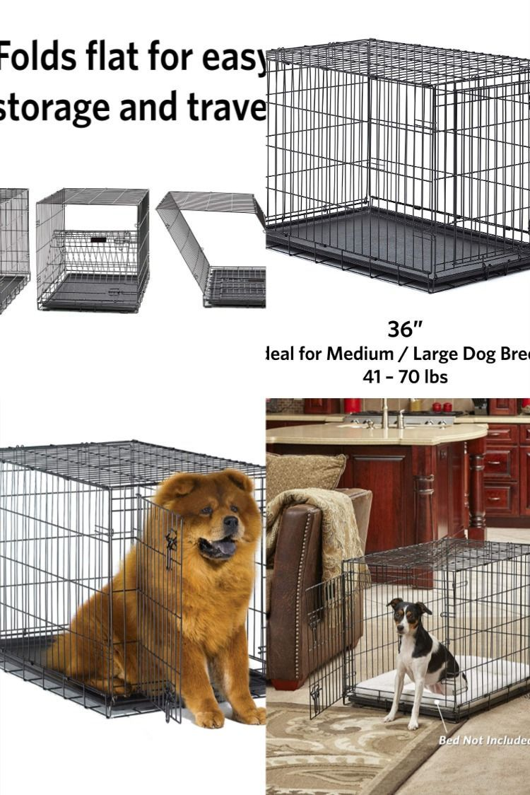 The New World Single Door Folding Metal Dog Crate Includes All Of The Features You Will Need To Provide A Convenient Safe And Secure P In 2020 Dog Crate Dogs Pet Home