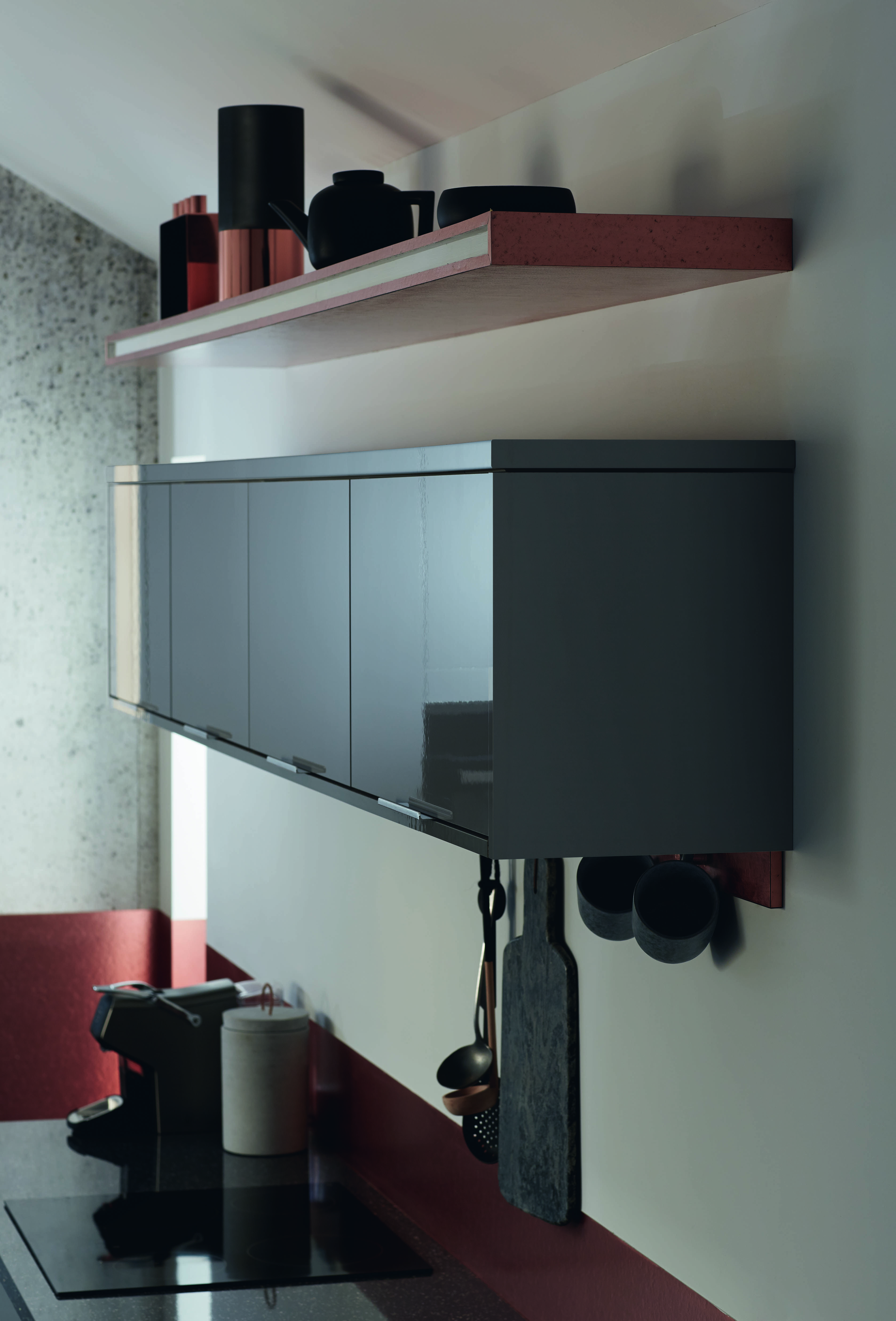 Make use of space above your kitchen cabinets to create a useful yet ...