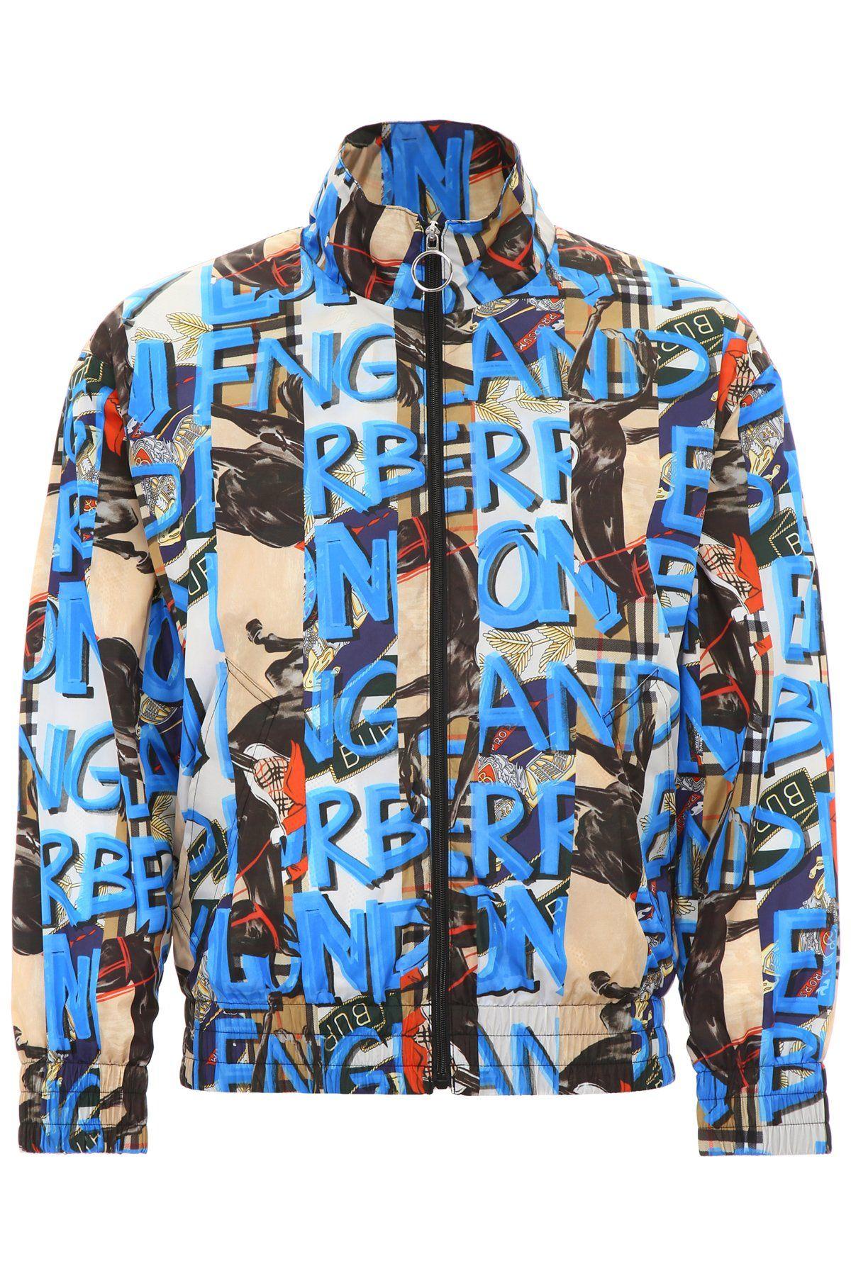 Burberry Burberry Graffiti Print Zipped Jacket Burberry Cloth