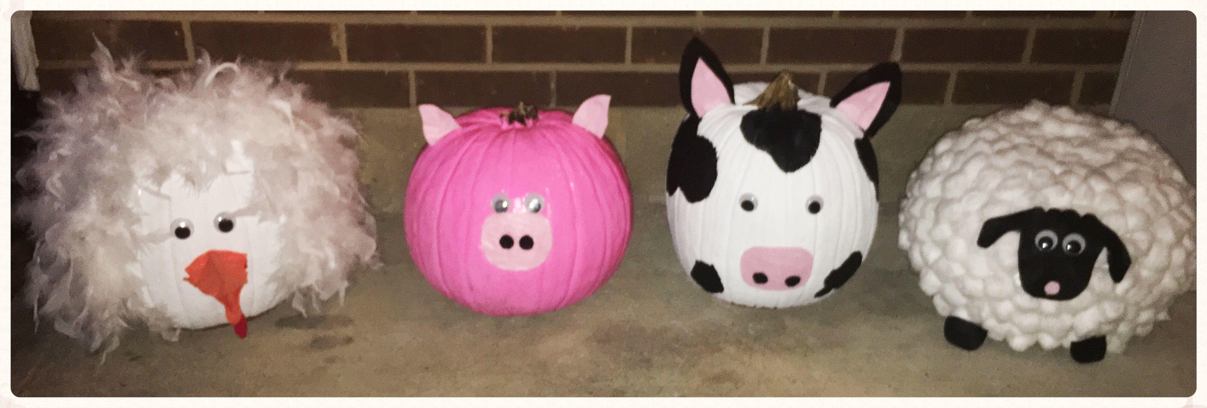 Farm animal pumpkins ! Pumpkin halloween decorations