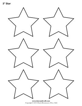 multiple sizes of star template pages on this site including sizes