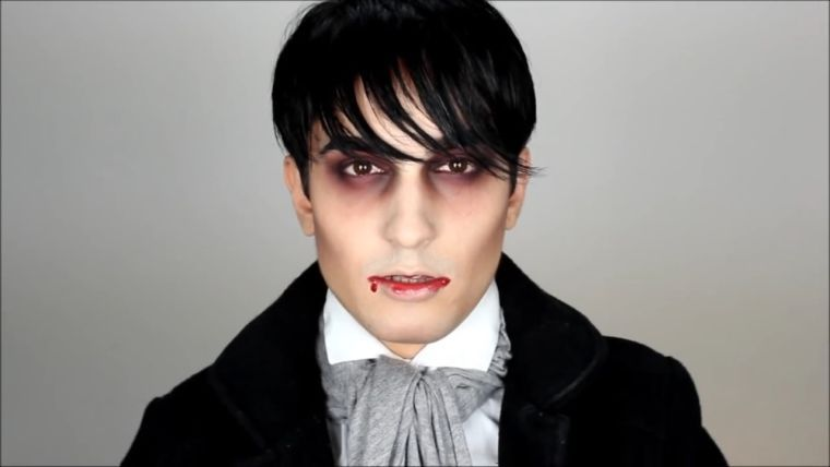 maquillage homme Halloween , vampire et idée de déguisement