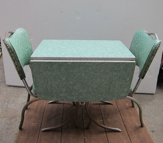Ordinaire Green Cracked Ice Formica And Vinyl Table By Yesteryearessentials, $250.00