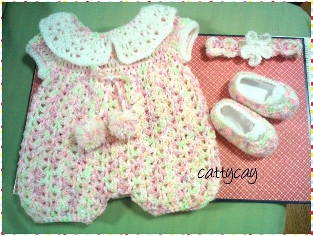 Baby Romper set made from three free crochet Free Pattern link http ...