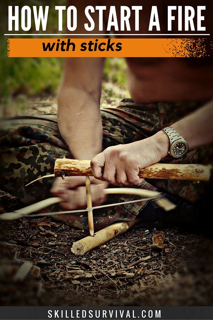 In this complete guide, we describe in detail each of the 3 basic methods on how to start a fire with sticks.  We also provide 3 simple-to-follow videos to show you exactly how to start a fire with sticks.