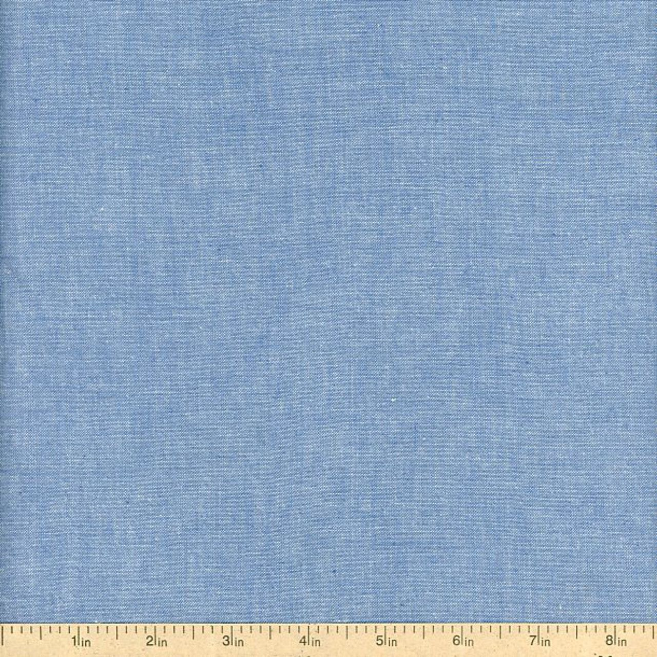 Andover chambray fabric blue by fabric for Chambray fabric
