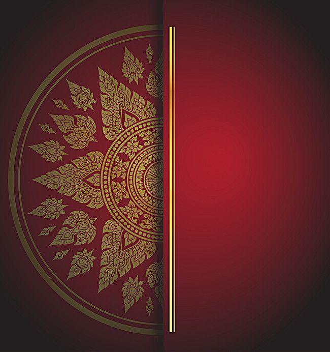 Red Chinese Wind Pattern Invitation Background Material Chinese Background Mandala Background Wallpapers Pattern Invitation