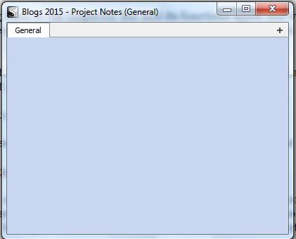 Scriv Proj Notes Window