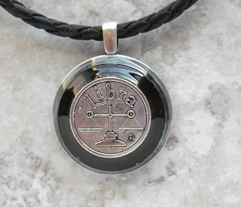 Libra Necklace Black