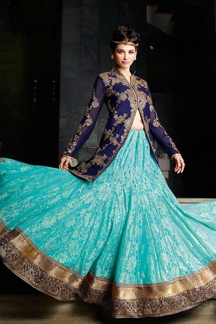 Marvelous Wedding Bridal Lehenga Choli With Jacket   Lehengas for ...