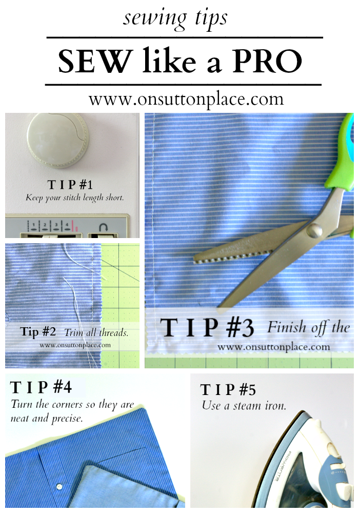 Sewing Tips: How to Sew Like a Pro #sewingtechniques
