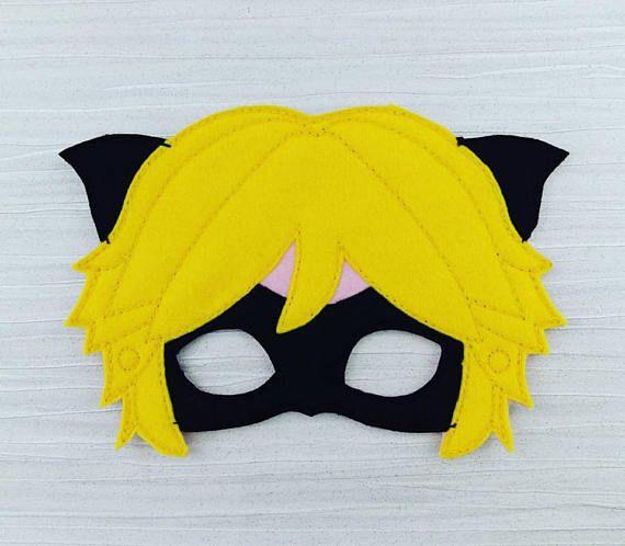 Cat Noir Mask Miraculous Ladybug Party Favor Dress Up