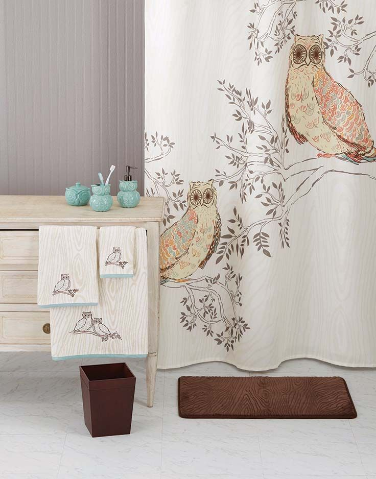 Better homes and gardens owl shower curtain home pinterest owl shower owl and gardens for Better homes and gardens shower curtains