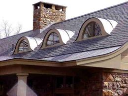 Eyebrow Dormers Have Low Upward Curve With No Vertical Sides