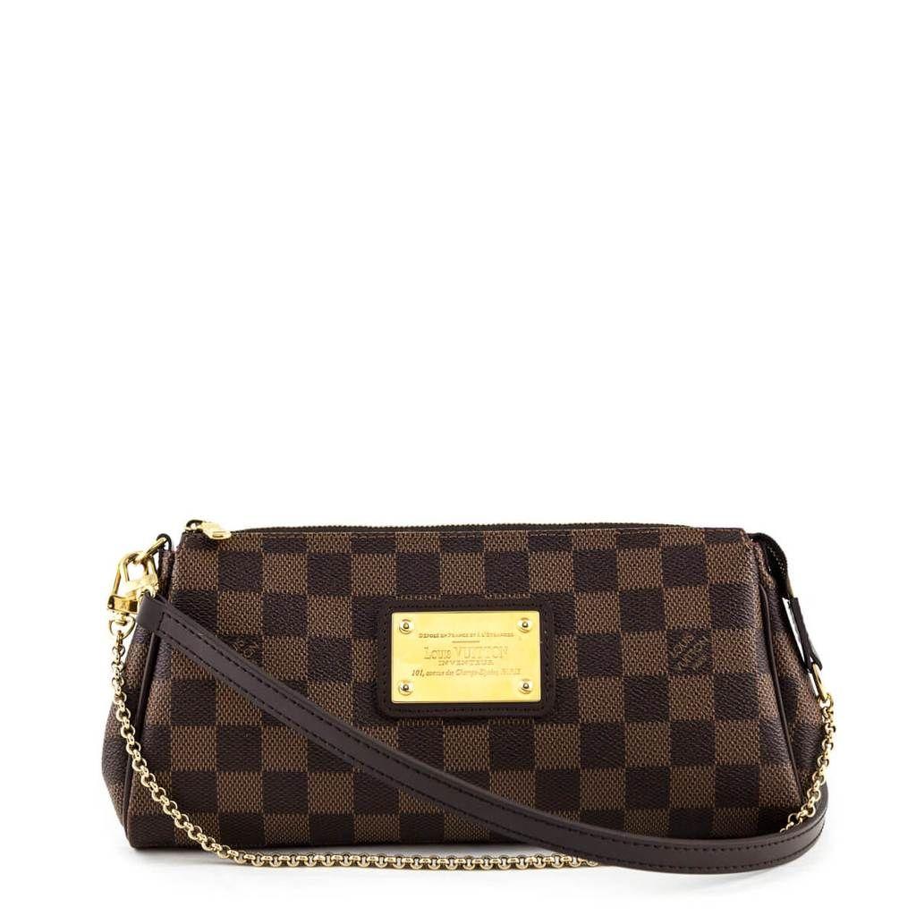 Louis Vuitton Damier Ebene Eva Bag Louis Vuitton Louis Vuitton