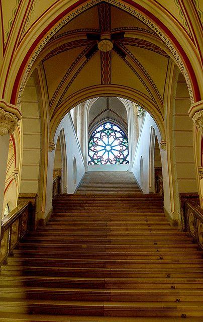 Transylvanian Vajdahunyad Castle in Budapest, Hungary