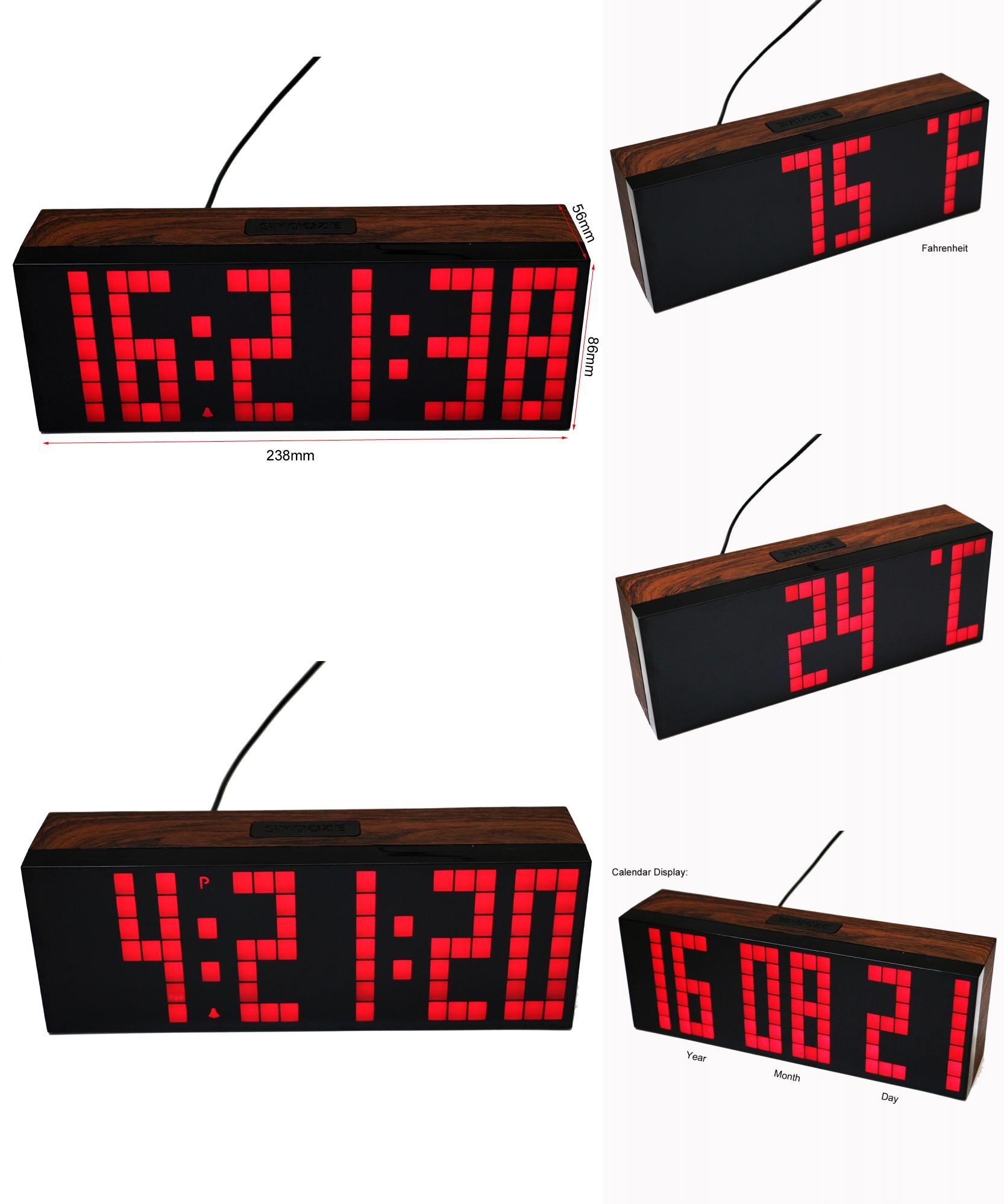 Visit To Buy Big Font Led Digital Alarm Temperature Calendar Wall