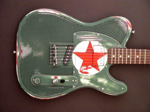 Trussart Steelcaster Red Star Tom Morello Signature Famous Guitars Tom Morello Guitar Design