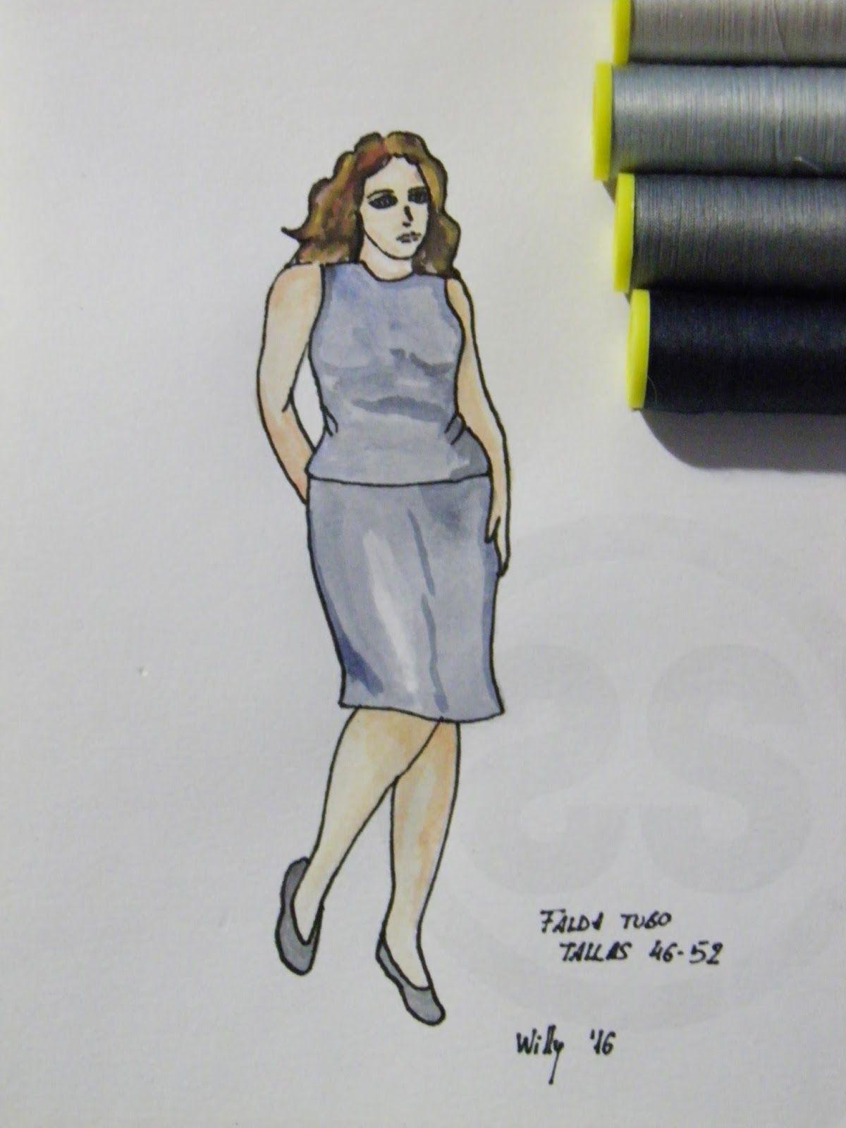 Sewing Set: PATRÓN FALDA DE TUBO TALLAS 46-52 (PARA IMPRIMIR ...