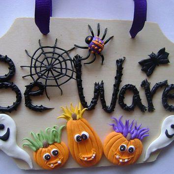 Halloweedn Door Sign Kids Door Sign Halloween Decoration Ready to - halloween decoration kids