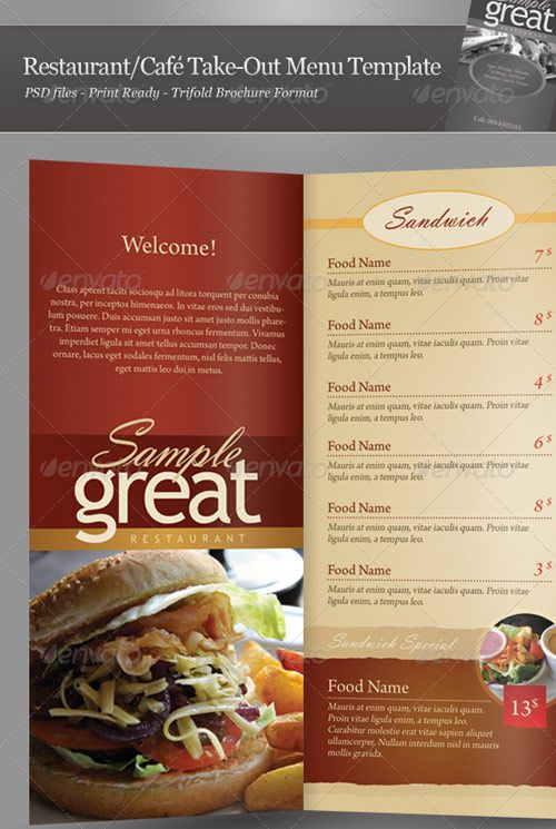25 High Quality Restaurant Menu Design Templates Menu templates - food brochure