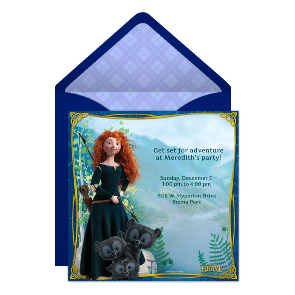 Brave party online invitation party invitations birthdays and brave party online invitation monicamarmolfo Gallery
