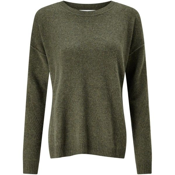 Collection WEEKEND by John Lewis Drop Sleeve Cashmere Jumper , Khaki (525 RON) ❤ liked on Polyvore featuring tops, sweaters, khaki, cashmere jumpers, extra long sleeve shirts, long sleeve sweater, sleeve shirt and long sleeve jumper