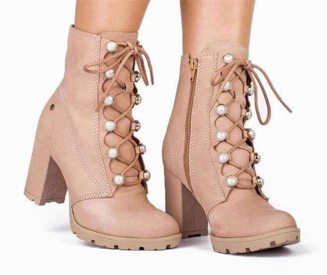 7e17cd353 Bota Feminina Coturno Tanara T2501 0003 - Noz (Liz) - Calçados Online  Sandálias, Sapatos e Botas Femininas | Katy.com.br