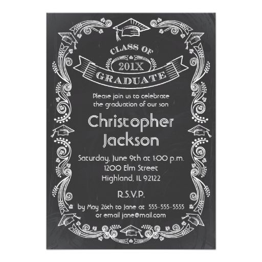 chalkboard graduation invitation 2018 graduation collections