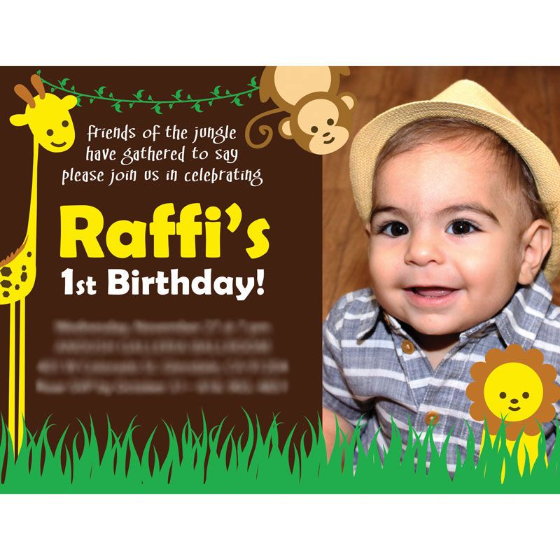 Raffis 1st Birthday Card Design This fun colorful invitation was – Birthday Invitations Cards Designs